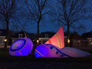 infatable object by Wies Noest @ Oude Bildtzijl, The Netherlands